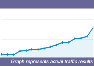 Traffic gained through SEO